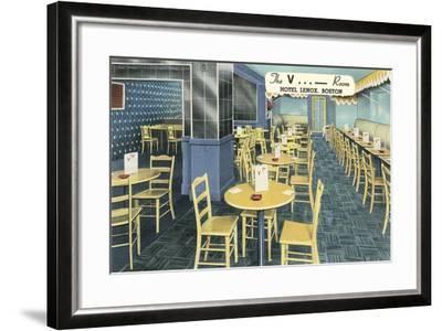 The V Room, Cocktail Lounge--Framed Art Print