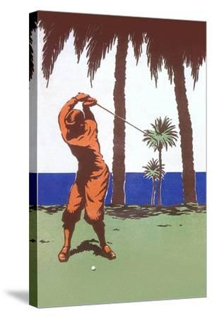 Golfing in the Tropics--Stretched Canvas Print