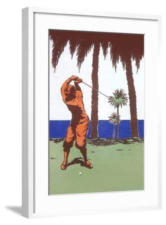 Golfing in the Tropics--Framed Art Print