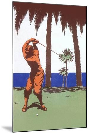 Golfing in the Tropics--Mounted Art Print
