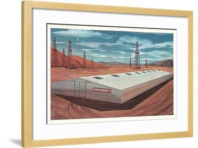 Futuristic Pre-Fab Factory--Framed Art Print