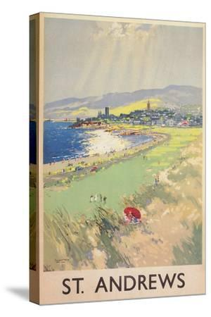 Poster of St. Andrews Golf Course--Stretched Canvas Print