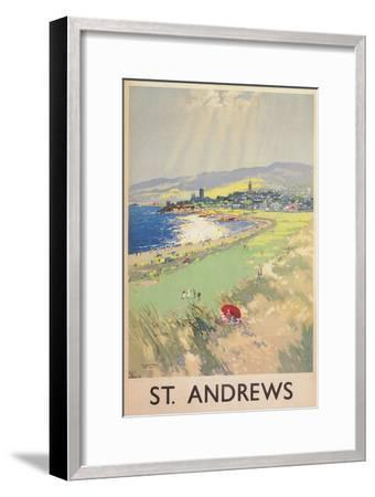 Poster of St. Andrews Golf Course--Framed Premium Giclee Print
