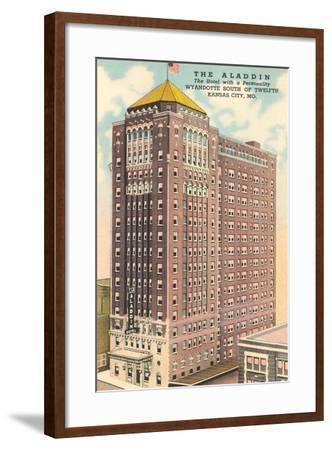 Aladdin Hotel, Kansas City--Framed Art Print