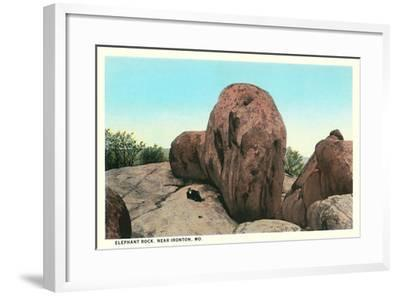 Elephant Rock, Ironton--Framed Art Print
