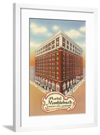Hotel Muehlebach, Kansas City--Framed Art Print