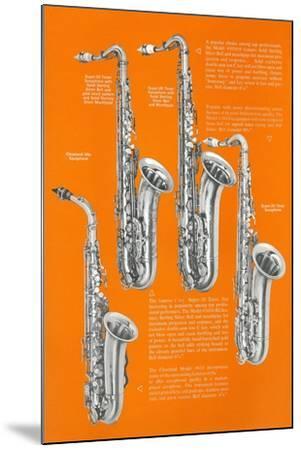 Four Saxophones--Mounted Art Print