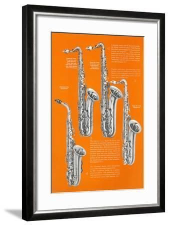 Four Saxophones--Framed Art Print