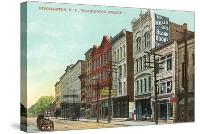 Washington Street, Binghamton--Stretched Canvas Print