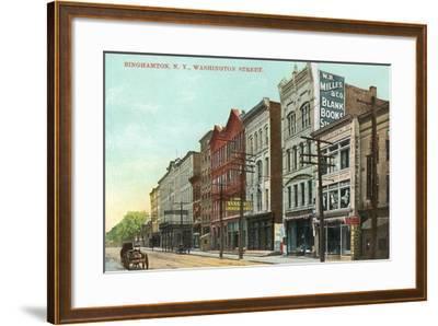 Washington Street, Binghamton--Framed Art Print