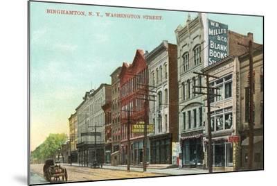 Washington Street, Binghamton--Mounted Art Print