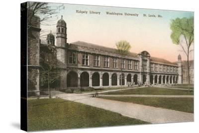 Ridgely Library, Washington Universitiy, St. Louis--Stretched Canvas Print