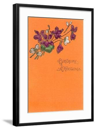 Old Fashioned Birthday Greetings--Framed Art Print