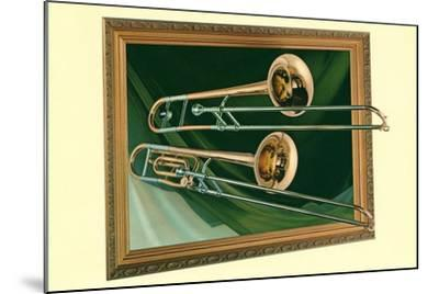 Two Trombones in Frame--Mounted Art Print