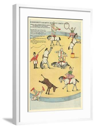 Vintage Circus Toys--Framed Art Print