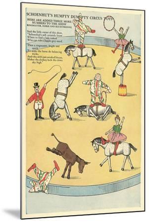 Vintage Circus Toys--Mounted Art Print