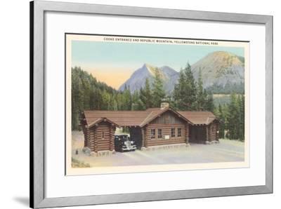 Cooke Entrance, Yellowstone--Framed Art Print