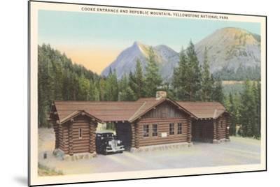 Cooke Entrance, Yellowstone--Mounted Art Print
