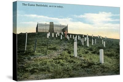 Custer Battlefield--Stretched Canvas Print