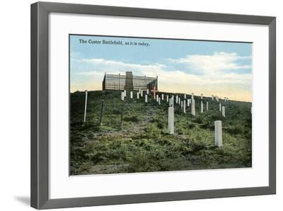 Custer Battlefield--Framed Art Print