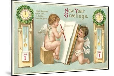 Vintage Greetings, Angels--Mounted Art Print