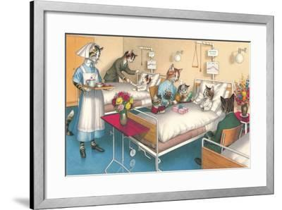 Cats in the Hospital--Framed Art Print