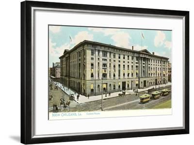 Custom House, New Orleans--Framed Art Print