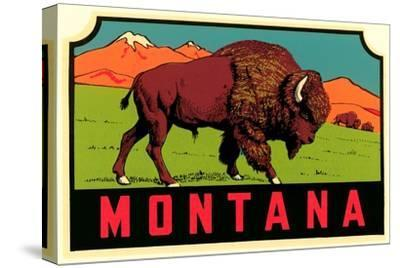 Montana Decal--Stretched Canvas Print