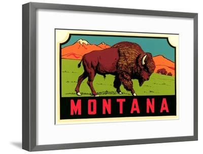 Montana Decal--Framed Premium Giclee Print