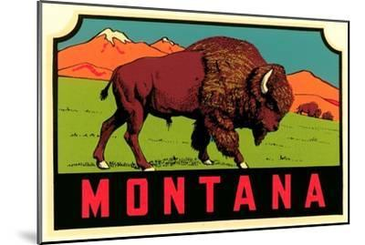 Montana Decal--Mounted Premium Giclee Print