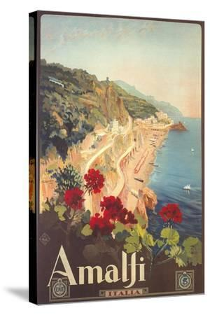 Travel Poster for Amalfi--Stretched Canvas Print