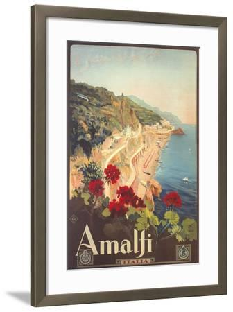 Travel Poster for Amalfi--Framed Art Print