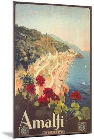 Travel Poster for Amalfi--Mounted Art Print
