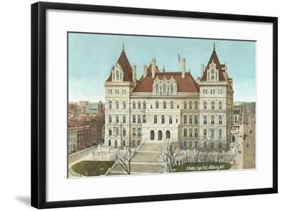 State Capitol, Albany--Framed Art Print