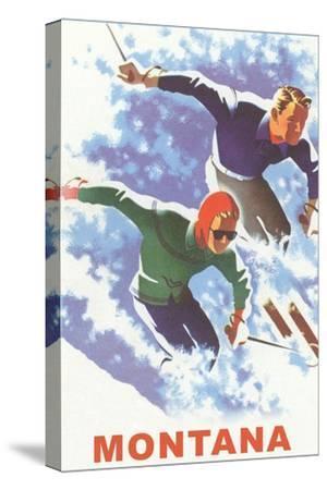 Ski Montana Poster--Stretched Canvas Print