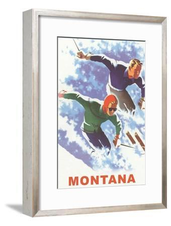 Ski Montana Poster--Framed Premium Giclee Print