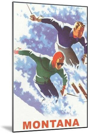 Ski Montana Poster--Mounted Premium Giclee Print