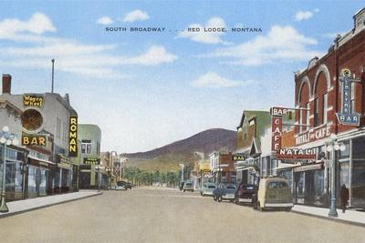 South Broadway, Red Lodge--Framed Art Print