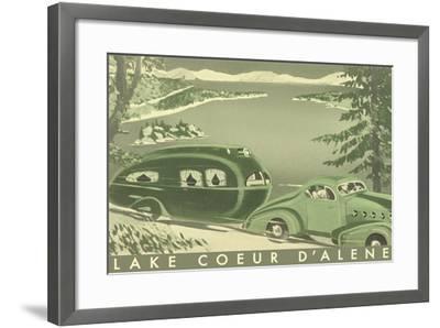 Lake Coeur D'Alene--Framed Art Print