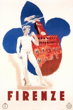 Travel Poster for Firenze--Framed Art Print
