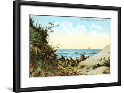 Sand Dunes, Cape May Point--Framed Art Print