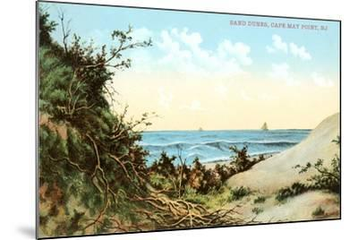 Sand Dunes, Cape May Point--Mounted Art Print