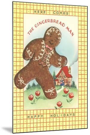 Here Comes Gingerbread Man--Mounted Art Print