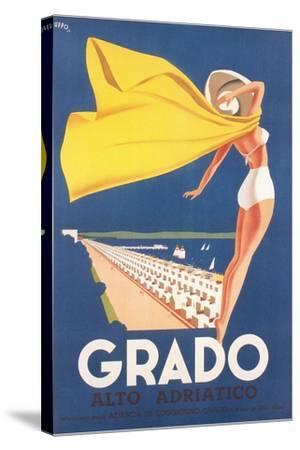 Travel Poster for Grado--Stretched Canvas Print