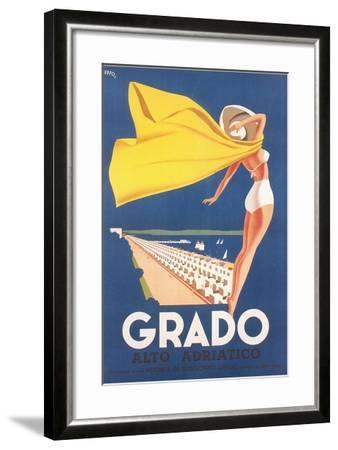 Travel Poster for Grado--Framed Art Print