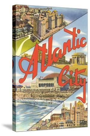 Scenes from Atlantic City--Stretched Canvas Print