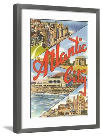 Scenes from Atlantic City--Framed Art Print