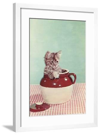 Kitten in a Jug--Framed Art Print