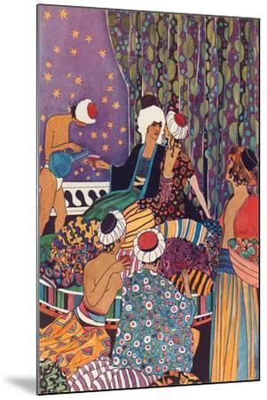 Harem Scene--Mounted Art Print