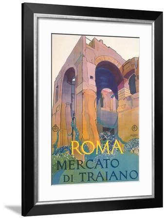 Travel Poster for Rome--Framed Art Print